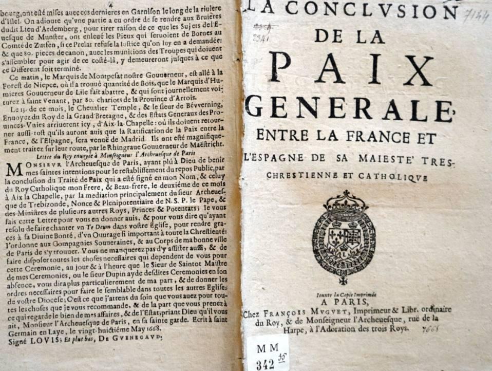 Vrede van Aken, 1668