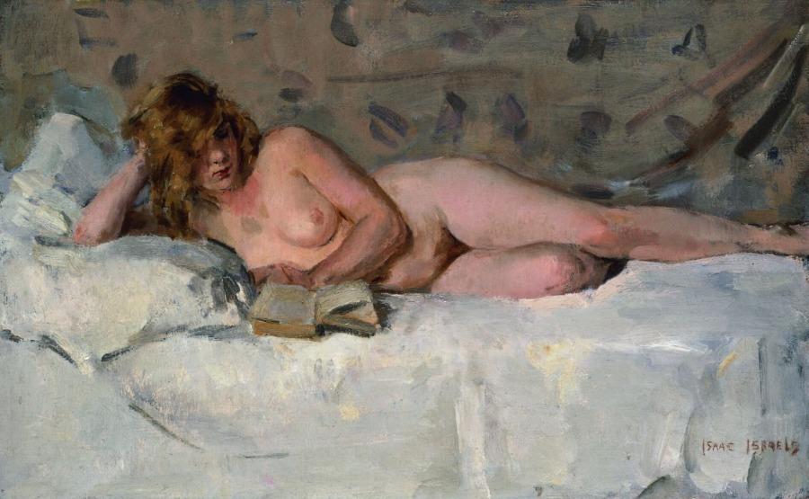 Liggend naakt (Sjaantje van Ingen) (circa 1894-1900) - Isaac Israëls