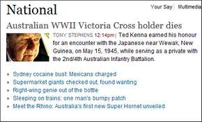 Bericht in de Sydney Morning Herald