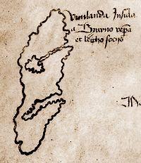 Detail van de kaart 'Vinilanda Insula'