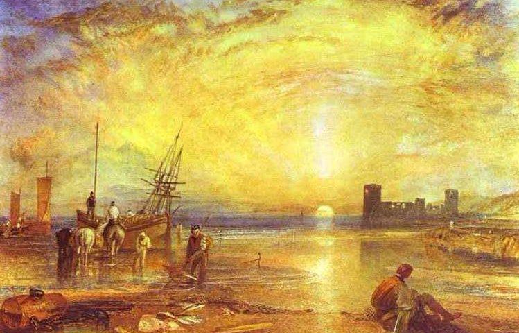1838 Aquarel van Flint Castle door J.M.W. Turner