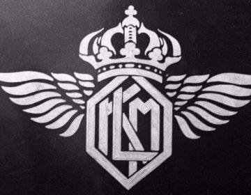 Oud logo van de KLM. (Afb: KLM)