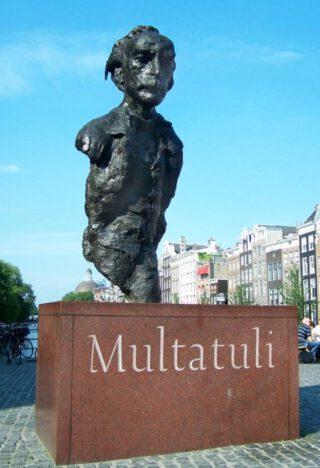 Buste van Multatuli in Amsterdam - Hans Bayens, 1987