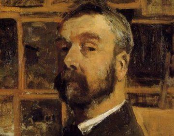 Detail van een zelfportret van Anton Mauve