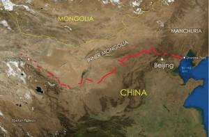 De loop van de Chinese Muur