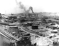 Eerste raffinaderij van Standard Oil in Ohio