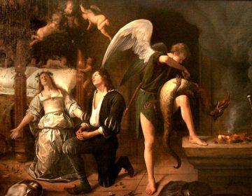 De huwelijksnacht van Tobias en Sara - Jan Steen