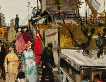 De molen Le blute-fin - Vincent van Gogh (detail)