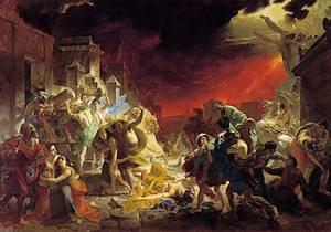 Schilderij over Pompeii