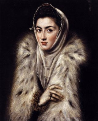 Dame in bontjas - El Greco, 1577-1580