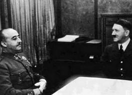 Franco en Hitler