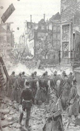 Tijdens het Palingoproer schoot de politie met scherp (Publiek Domein - wiki)