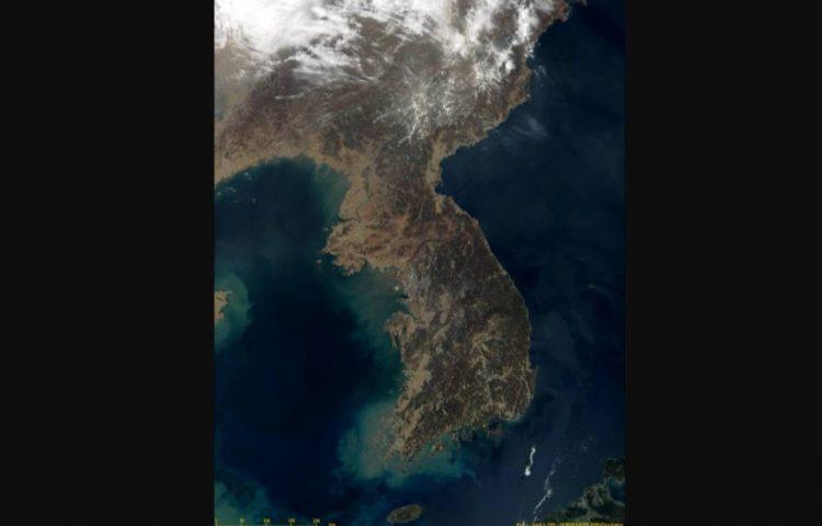Het Koreaans schiereiland (NASA)