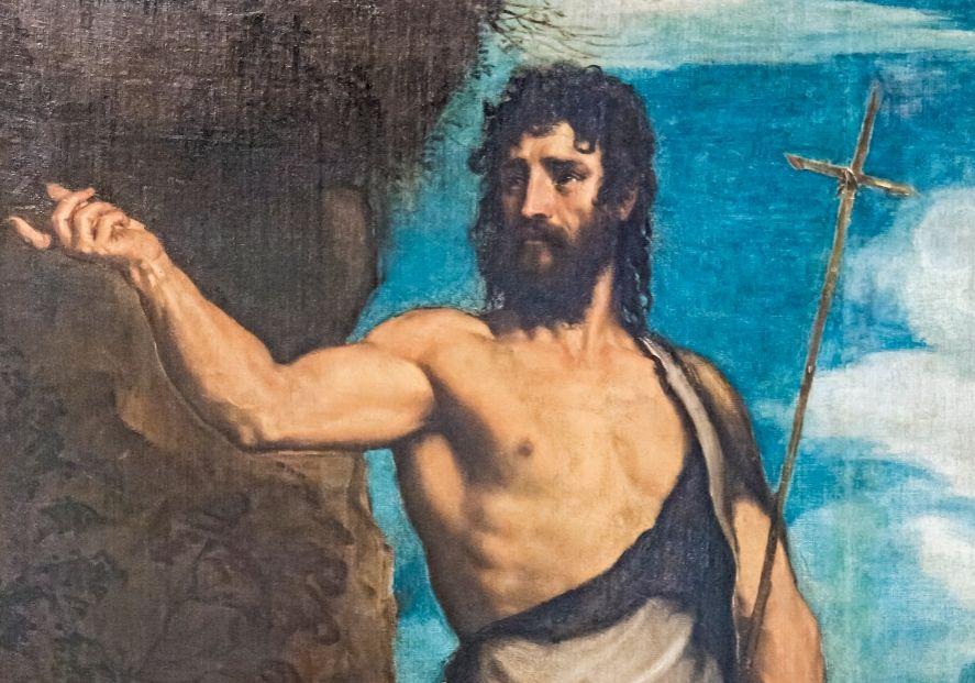 Sint Johannes de Doper, schilderij van Titiaan