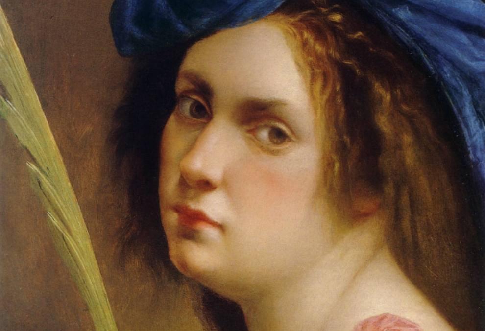 Zelfportret van Artemisia Gentileschi, ca. 1615
