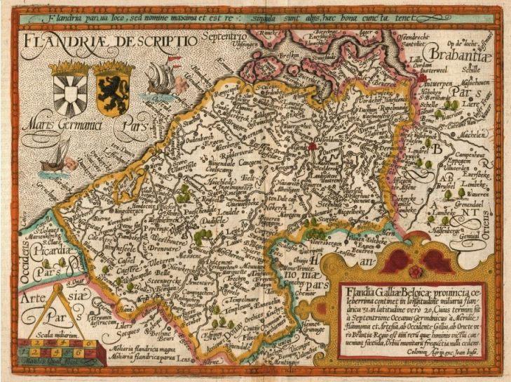 Frans-Vlaanderen - Het graafschap Vlaanderen voordat de oorlogen van Lodewijk XIV begonnen