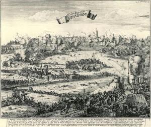 Belegering van Groningen door Bernhard von Galen – Prent van Jacobus Harrewijn