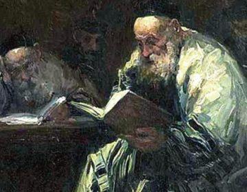 Een man leest de Talmoed (Adolf Behrman)