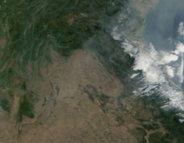 Satellietfoto van Laos (NASA)