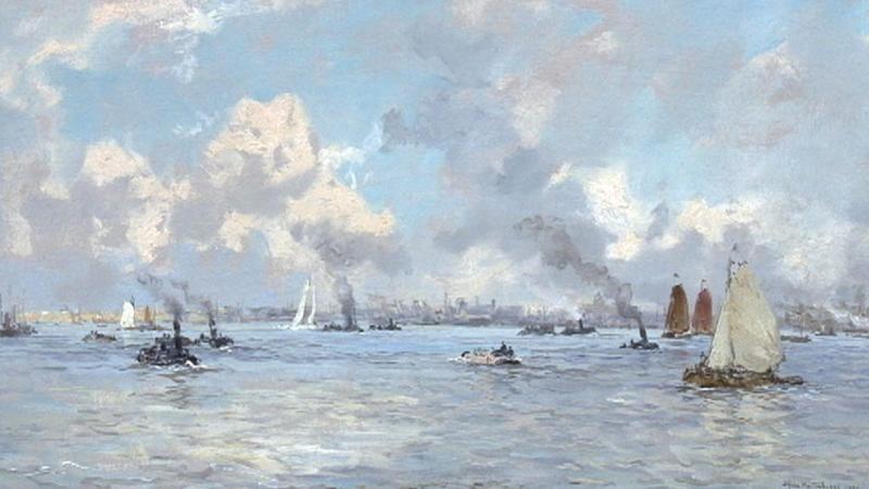 Gezicht op Delfshaven - Johan Hendrik van Mastenbroek