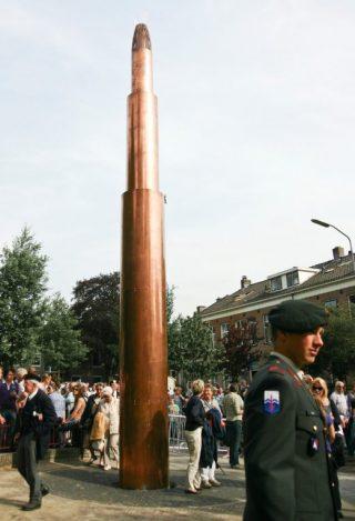 Het Vrijheidsvuur in Wageningen, tijdens het bevrijdingsfestival op 5 mei 2011 (CC BY-SA 3.0 - Hjvannes - wiki)