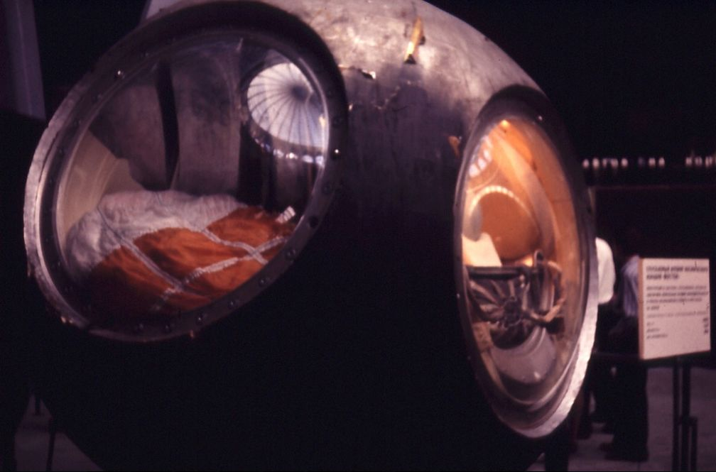 Gagarins capsule in het kosmonautenmuseum in Moskou – Foto: CC/Allan Lee