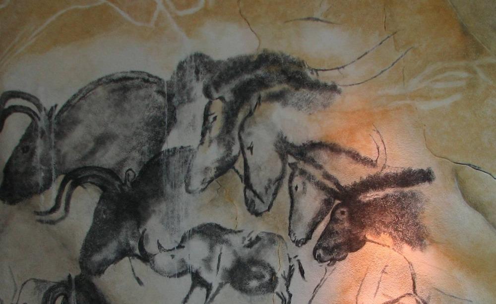 Replica van schilderingen in de Chauvet-grot (Publiek Domein - wiki)