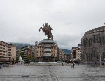 Het standbeeld van Alexander de Grote in Skopje - cc