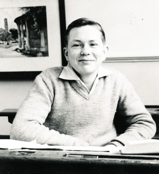 Jaap Blokker in de schoolbanken, jaren vijftig - Foto: Blokker Holding