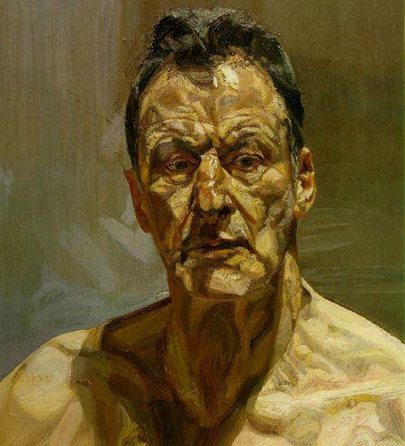 Zelfportret van Lucian Freud