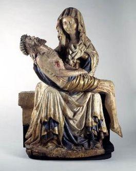 De vijftiende-eeuwse Pietà van lindehout – Afb: Catharijneconvent
