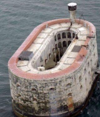 Het fort gezien vanuit de lucht