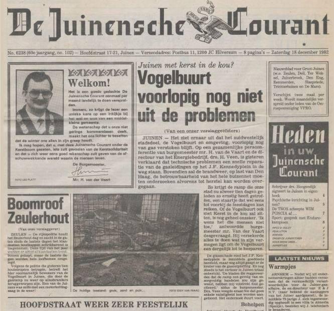 Juinensche Courant van 'Van Kooten en De Bie'