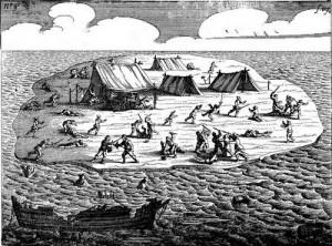 Moordpartij na de schipbreuk