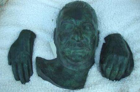 Dodenmasker van Jozef Stalin - Foto: Mullock's