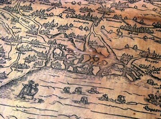 Detail van de kaart