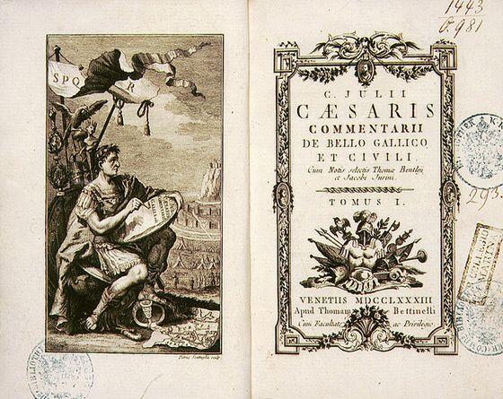 Achttiende-eeuwse editie van 'De bello Gallico'