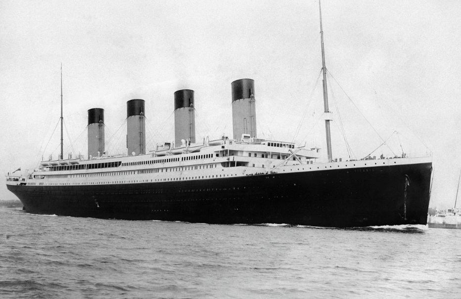 RMS Titanic in 1912 (Publiek Domein - wiki)