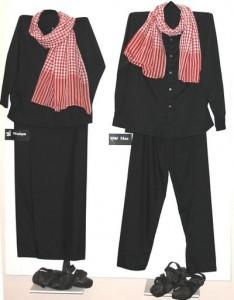 Het kostuum dat mannen en vrouwen verplicht moesten dragen - Foto: CC/Toony