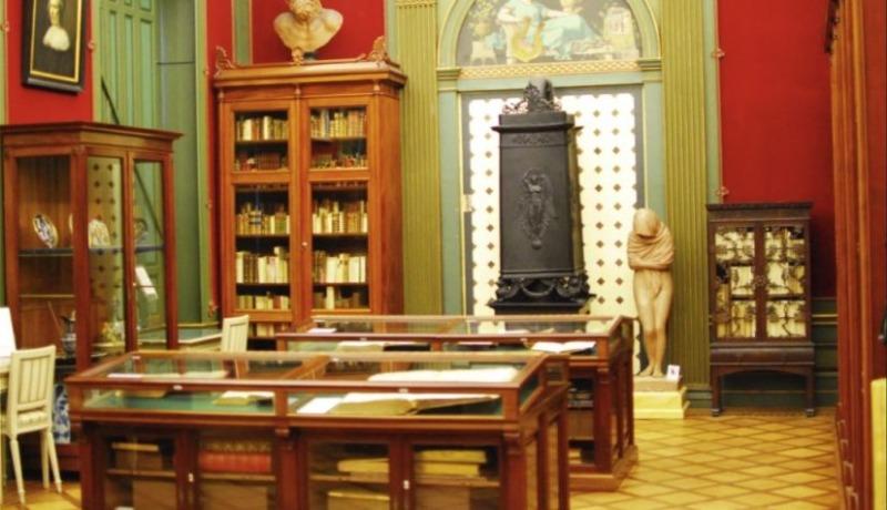 Zaal in Museum Meermanno (Publiek Domein - Rudolph Buch)