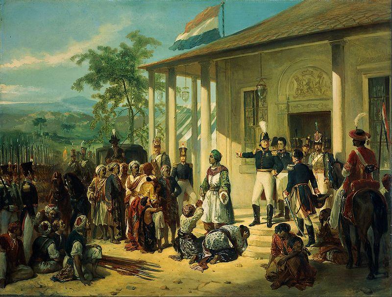 De gevangenneming van prins Diponegoro door generaal De Kock – Nicolaas Pieneman, 1830 (Rijksmusem)