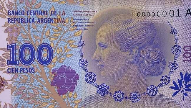 Bankbiljet voor Evita