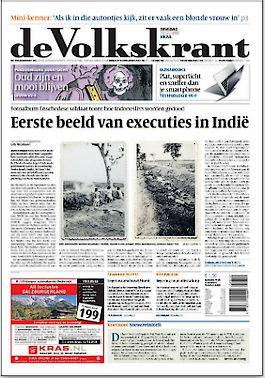 Enige tijd geleden doken er foto's op van executies in Nederlands-Indië