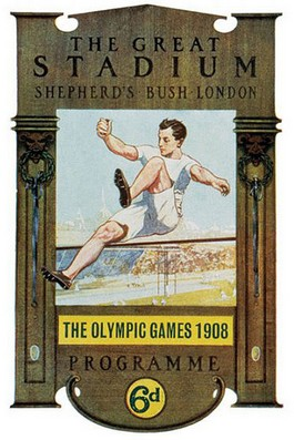 Poster van de Olympische Spelen van Londen, 1908