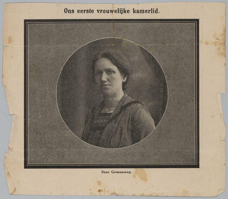 Suze Groeneweg, het eerste vrouwelijke Tweede Kamerlid