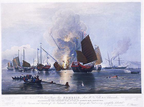 29 augustus 1842 - Einde van de Eerste Opiumoorlog