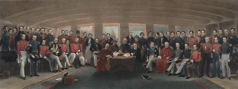 Ondertekening van het Verdrag van Nanking