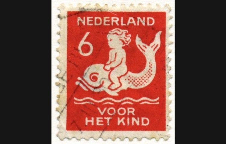 Kinderpostzegel 1929 voor het kind 6 cent (Publiek Domein - wiki)