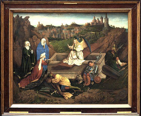 De drie Maria's aan het graf – Jan of Hubert Van Eyck, ca. 1425-1435