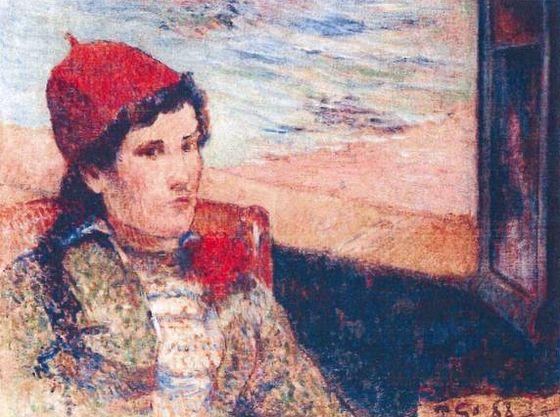 Femme devant une fenêtre ouverte, dite la Fiancée – Paul Gauguin
